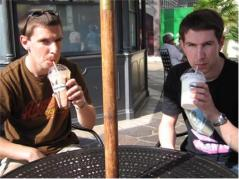 Brothers Having A Smoothie