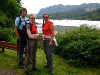 Nick, Siobhan and Rachael