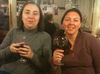 The Ladies Drinking Fine Wine