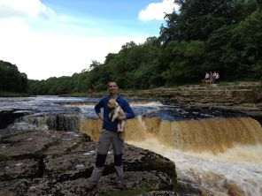 Lower Aysgarth Falls And Me (And Billy)