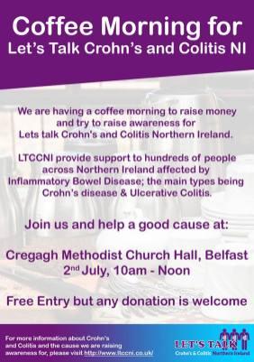 Crohns & Colitis Fundraiser Flyer
