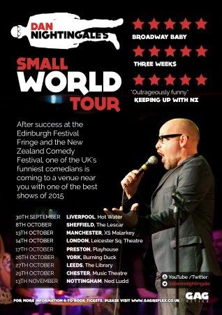Dan Nightingale Small World tour