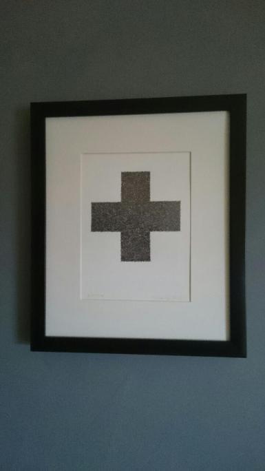 Pencil drawing of cross.
