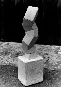 Small Stacked Maquette in Portland Stone.