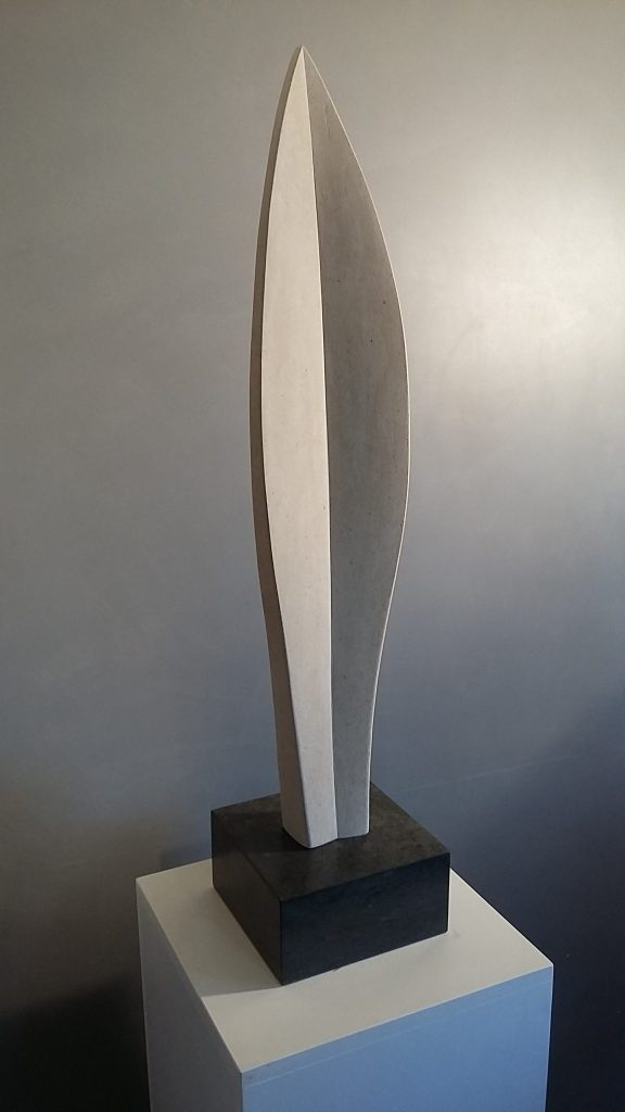 Stone Leaf Sculpture