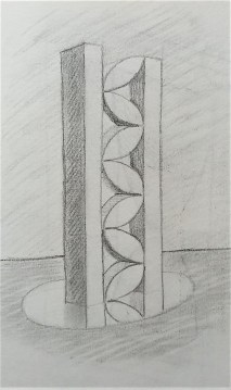 Sketch of abstract sculpture idea