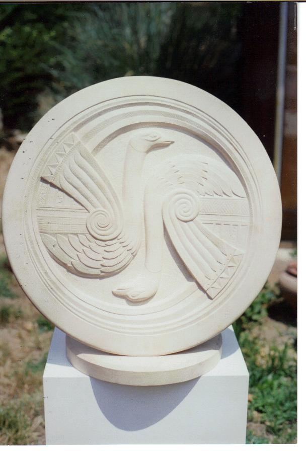 Stone Celtic Relief Carving