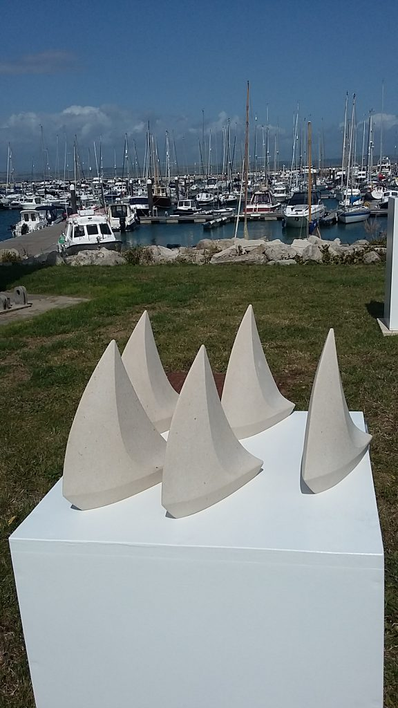 Sail Sculptures in Portland Stone