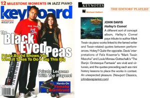 Keyboard Magazine Review of Halley's Comet: Around the Piano with Mark Twain & John Davis