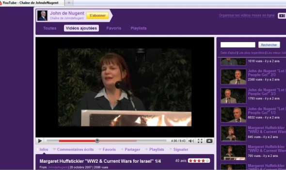 Margaret Huffstickler reading Hitler poem Artois