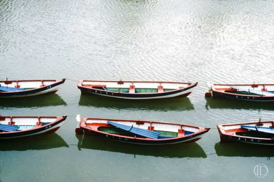 Boats in a Row - $1200 - 11x17 Kodachrome Color C Print in 18x22 frame - Edition of 10
