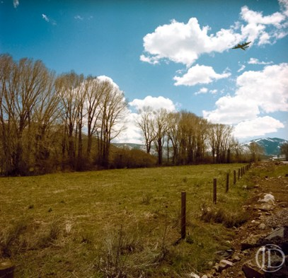 Flight over Colorado - $1100 - 12x12 Kodak Film Color C Print in 18x18 frame - Edition of 10