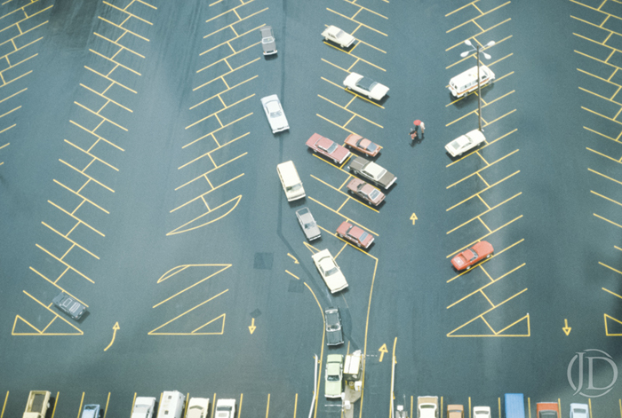 Parking Lot - $1800 - 16x24 Kodachrome Color C Print in 22x30 frame - Edition of 10