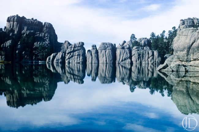 Rock Reflection - $1200 - 11x17 Kodachrome Color C Print in 18x22 frame - Edition of 10