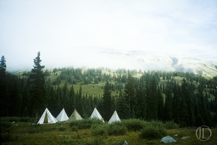 Teepees - $1200 - 11x17 Kodachrome Color C Print in 18x24 frame - Edition of 10