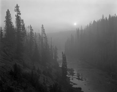 8-1988 Yellowstone Sunrise-4x5 film-Linhof camera.