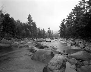 10-1985 White River-New Hampshire-4x5 film-Linhof camera-TXP 4x5-HC110B developer.