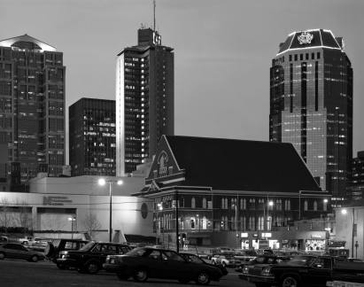 2-3-1991 Nashville Ryman Auditorium-This location of the picture is now the Country Music Hall of Fame and this view is not available-Toyo 8x10M camera-450mm Nikkor M lens-Kodak Tmax 100 8x10 film-Kodak Tmax RS developer.