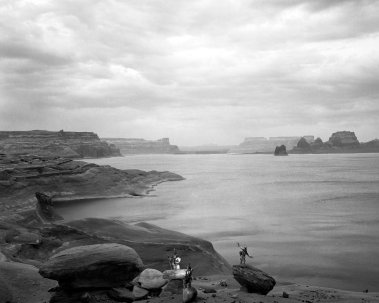 10-1993 Lake Powell Arizona-Linhof Technika 4x5 camera-120mm Schneider Super Symmar-Ilfor HP5+ 4x5 film-PMK Pyro developer.