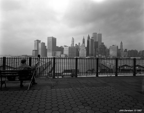 12-4-1982 New York City from Brooklyn with Harvey Friedman-Linhof Technika 4x5 Camera-90mm Schenider Super Angulon lens-G filter-Kodak Tri X Pan Pro 4x5 film-Kodak HC110B developer.