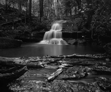 11-3-1015 Mystic Falls at Rock Bridge Canyon-Hodges Alabama-Toyo 8x10M camera-240mm Schneider G-Claron lens-16 sec. exposure-Efke R50 8x10 film-PMK Pyro developer.