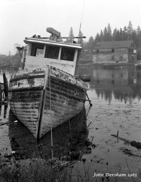 10-1985 Port Clyde Maine-Toyo 8x10 with 5x7 back-210mm Schneider Symmar S-Kodak Tri X Pro 5x7 film-Kodak HC110B developer.