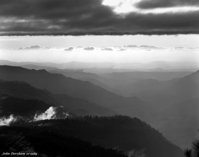 10-1984 Storm clearing at 5,000 ft. Yosemite National Park-Linhof Technika 4x5 camera-300mm Schneider Xenar-Ilford FP4 4x5 film-Kodak HC110B developer.
