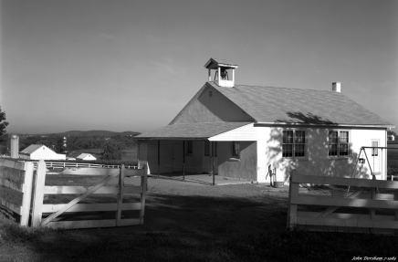 7-23-1983 Amish School near Lancaster Pennsylvania-150mm Schneider Symmar lens-K2 filter-Kodak Tri X Pan Pro 4x5 film-Kodak HC110B developer.