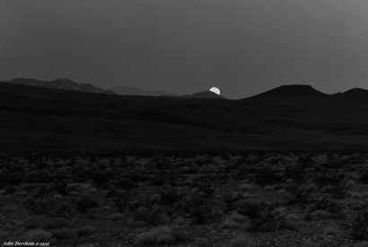 9-27-1999 Moonset over Death Valley-Linhof Technika V 4x5 camera-300mm Schneider Xenar lens-Ilford HP5+ 4x5 film-PMK Pyro developer.