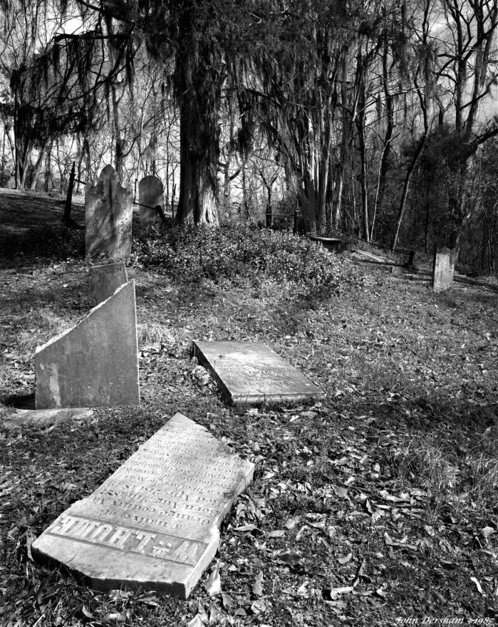 3-3-1987 Pre Civil War Cemetery at Grand Gulf State Park-Mississippi-Cambo 4x5 view camera-90mm Schneider Super Angulon-Kodak Tmax 100 4x5 film-Kodak HC110B developer.