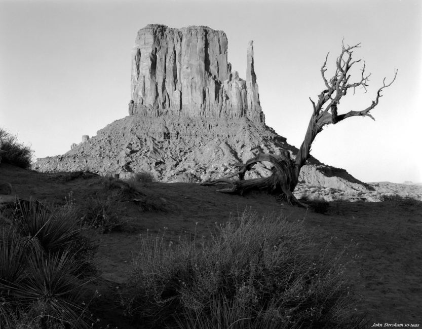 10-2-1993 Sunset-Monument Valley-Linhof Technika V 4x5 camera-150mm Nikkor W lens-K2 filter-Tmax 100 4x5 film-PMK Pyro developer.
