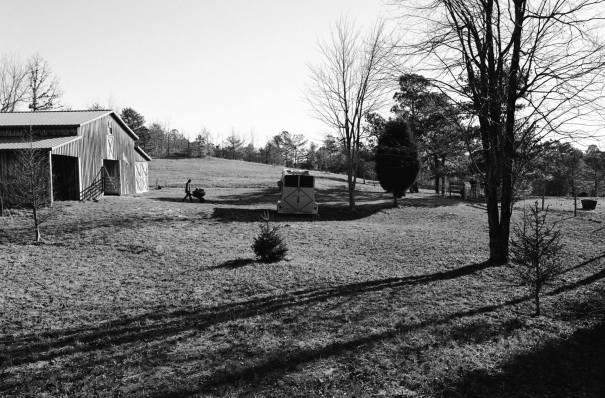 1-2008 Winter at Peacetree Farm-Lookout Mountain Alabama-Pentax 6x7 camera-45mm lens-Ilford HP5+ 120 film-PMK Pyro developer.