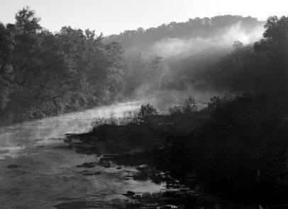 10-22-1995 Mulberry Fork of the Locust Fork River-Alabama-Linhof Technika 4x5 camera-210mm Schneider Apo Symmar lens-Ilford Delta 100 4x5 film-PMK Pyro developer.