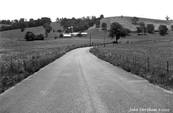 6-28-2012 Near Dunlap Tennessee-Crown Graphic 4x5 camera-135mm Schneider Xenar lens-Adox CHS 50 4x5 film-PMK Pyro developer.