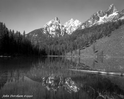 6-24-1990 String Lake Grand Tetons Wyoming-Linhof Technika V camera-120mm Schneider Symmar S-K2 filter-Kodak Tmax 100 4x5 film-Kodak Tmax RS developer.