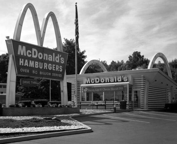 8-9-1985 Original McDonald's-Scranton Pennsylvania-Toyo 8x10M camera-300mm Schneider Xenar lens-K2 filter-Kodak Tri X Pan Pro. 8x10 film-Kodak HC110B developer.