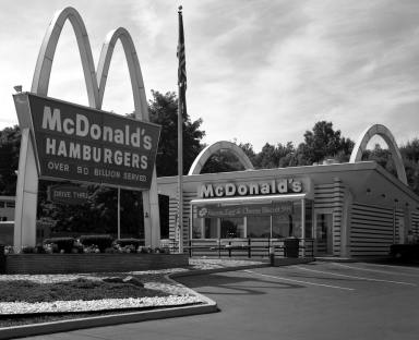 8-9-1985 Original McDonald's-Scranton Pennsylvania-Toyo 8x10M camera-300mm Schneider Xenar lens-K2 filter-Kodak Tri X Pan Pro. 8x10 film-Kodak HC110B developer.