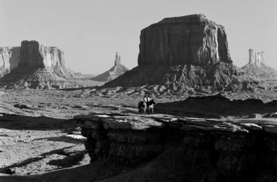 10-1993 Monument Valley with Native American models-Linhof Technika 4x5 camera-300mm Schenider Xenar lens-K2 filter-Kodak Tmax 100 4x5 film-Kodak Tmas RS developer.