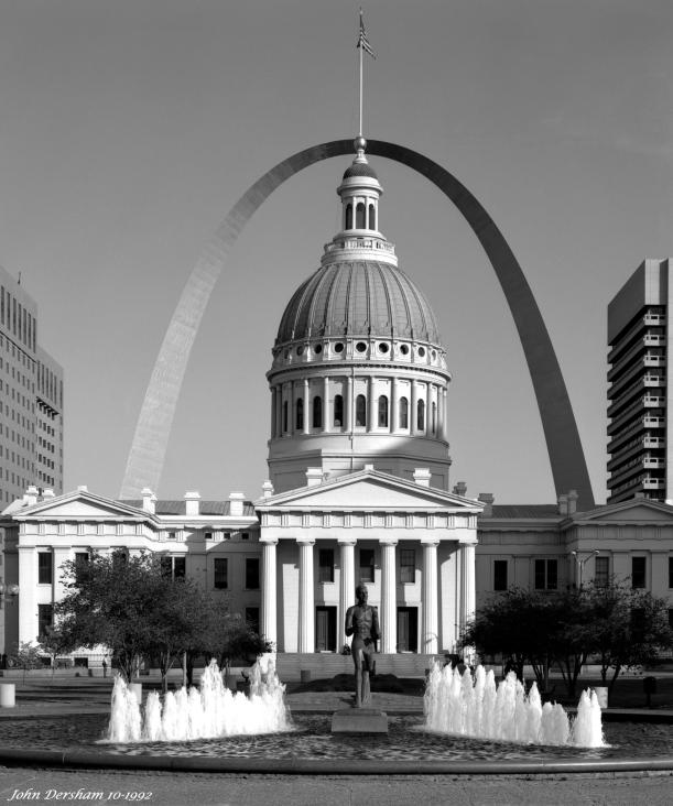 10-11-1992 St. Louis Missouri-Linhof Techika V 4x5 camera-150mm Nikkor W lens-K2 filter-Kodak Tmax 100 4x5 film-Kodak Tmax RS developer.