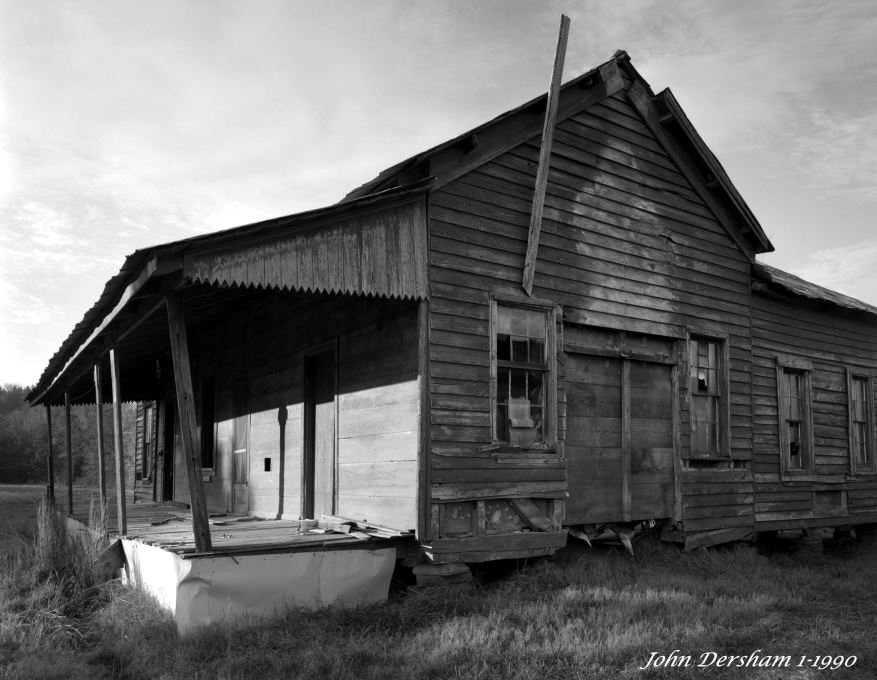 1-28-1990 Rural Alabama house-first light-Linhof Technika V camera-90mm Schenider Super Angulon-K2 filter-Kodak T-max 100 4x5 film-Kodak HC110B developer.