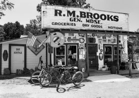 6-10-2016 R.M. Brooks General Merchandise Store-Est. 1920-Rugby Tennessee-Pentax 6x7 camera-55mm lens-K2 filter-Ilford Delta 100 120 film-PMK Pyro developer.