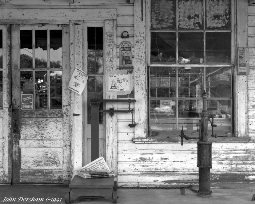 "6-9-1991-Paul C. Marsh and Son General Store-Locust Fork Alabama established 1945-Toyo 8x10M camera-14""Georz Gold Dot Dagor lens-Kodak Tmax 100 8x10 film-Tmax RS developer."