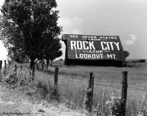 5-22-1982 Rock City Barn H64 South Middle Tennessee-Linhof Techika V 4x5 camera-210mm Schneider Symmar S lens-K2 filter-Ilford FP4 4x5 film-Kodak HC110B developer.