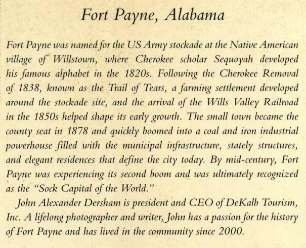 Fort Payne Postcard History Series by John Alexander Dersham - #134-2