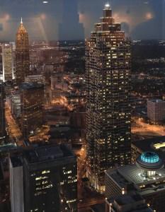 Atlanta from the Westin Hotel, Atlanta Cityscape, by John Dowell Artist Photographer