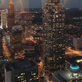 Atlanta from the Westin Hotel, Atlanta Cityscape, by John Dowell Artist Photographer