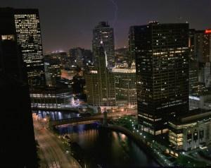 Lightning, Chicago Cityscapes, by John Dowell artist photographer
