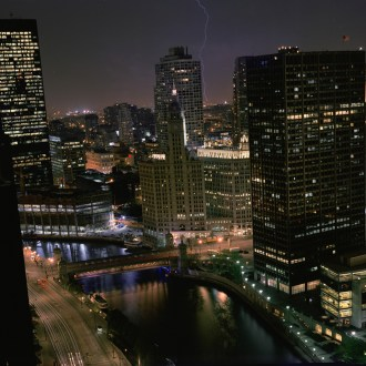 Lightning, Chicago Cityscapes, by John Dowell artist photographer
