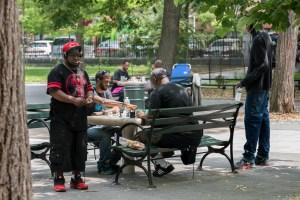 The Man, Harlem Chess, by John Dowell artist photographer