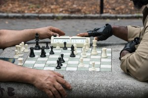 It's 3 Minutes, Harlem Chess, by John Dowell artist photographer